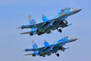 جنگنده سوخو-۲۷ روسیه هواپیمای جاسوسی آمریکا را رهگیری کرد