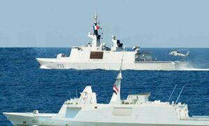 رزمایش دریایی مشترک فرانسه و مصر در دریای مدیترانه