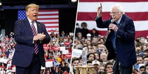 سندرز: ترامپ باید شکست داده شود