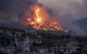 عکس/ آتش سوزی مهیب در یونان