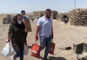 کمکرسانی قهرمانان ورزش در مناطق محروم +عکس