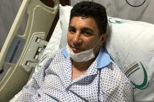 امیر قلعه نویی در بیمارستان