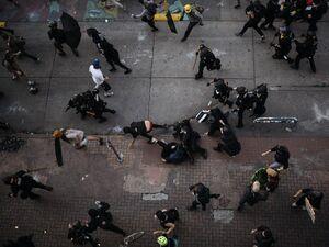 تصویرهوایی از وحشیگری پلیس آمریکا