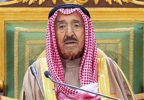 فیلم/ اعلام خبر درگذشت امیر کویت در تلویزیون