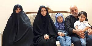 پای حرفهای این خانواده مدافع حرم/ ای کاش یکبار دیگر «بابا» بگویی!