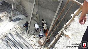 سقوط کارگر جوان در محل گودبرداری