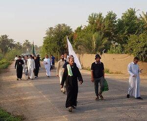 پیاده روی به سمت کربلا در آستانه روز عرفه