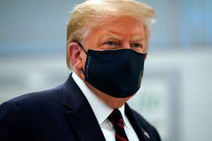 استفاده مجدد ترامپ از ماسک