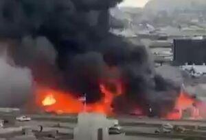فیلم/ آتشسوزی مهیب ۶ ساختمان تجاری در سانفرانسیسکو