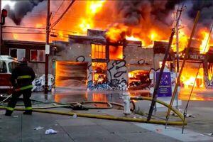 اعزام ۱۶۰ آتش نشان برای اطفای آتش سوزی گسترده در سانفرانسیسکو
