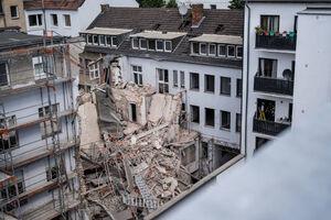 ریزش ساختمان در دوسلدورف آلمان