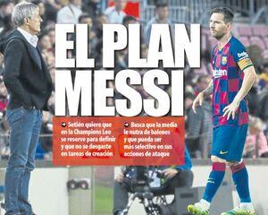 برنامه سرمربی بارسلونا برای مسی
