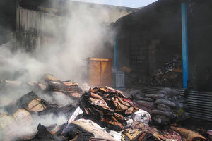آتش سوزی گسترده درخیابان فدائیان اسلام