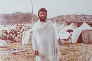 عکس/  حاج عماد مغنیه در لباس احرام