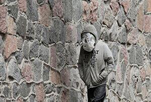 ماسک پیشرفته یک مرد اوکراینی!