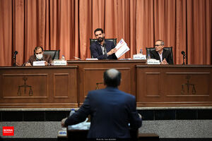 عکس/ دادگاه رسیدگی به اتهامات اخلالگران در حوزه پتروشیمی