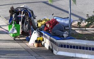 خواب راحت بیخانمانها در آمریکا! +فیلم