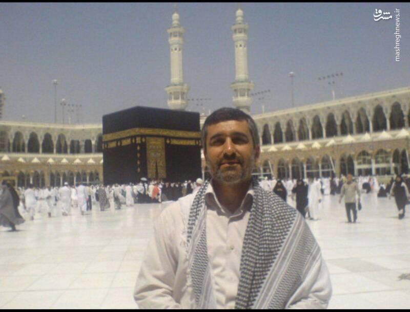 سردار حاجیزاده در صحن مسجدالحرام