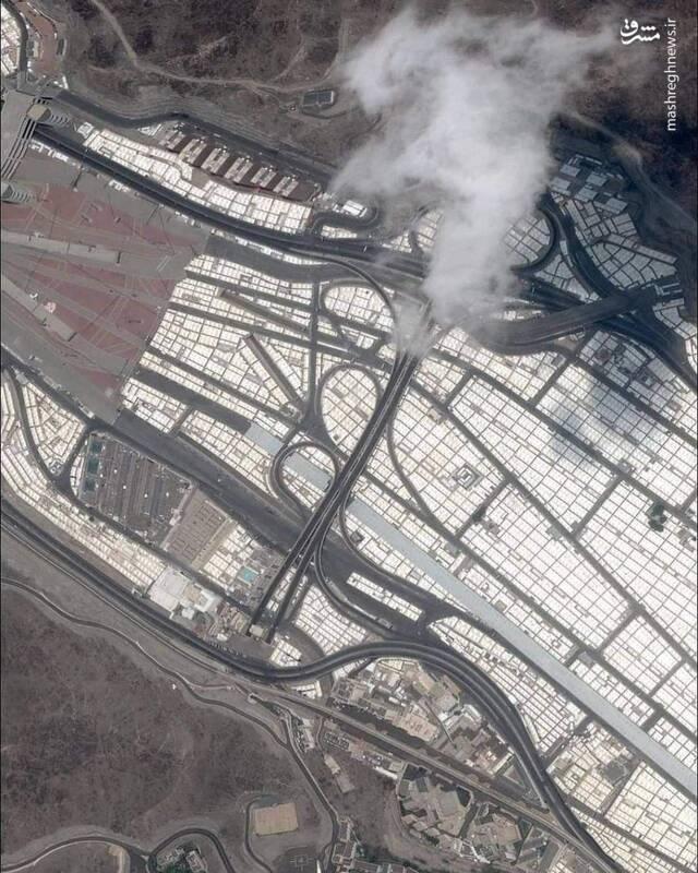 تصاویر هوایی از صحرای منا