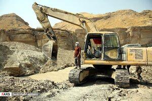 عکس/ افتتاح تونل انحرافی آب برای کشاورزان دشتستانی