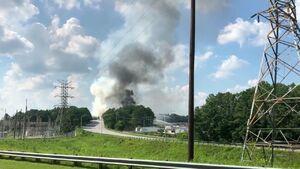 آتشسوزی کارخانه مواد شیمیایی «آلکمیکس»