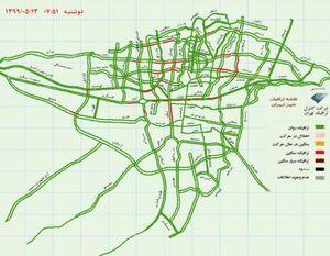 وضعيت ترافيكى بزرگراه هاى تهران