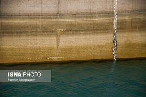 عکس/ وضعیت سد زاینده رود در نیمه تابستان