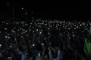عکس/ تظاهرات شبانه معلمان علیه دولت اردن