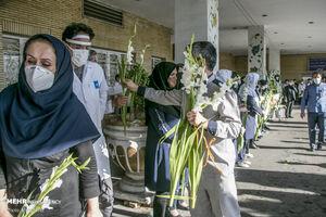 مراسم تشییع شهید مدافع سلامت در تبریز