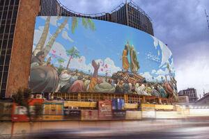 عکس/ جدیدترین دیوارنگارهی میدان ولیعصر