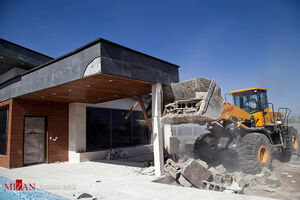 عکس/ تخریب ویلاهای غیرمجاز در البرز