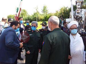 حضور سردار قاآنی در باغ موزه انقلاب اسلامی