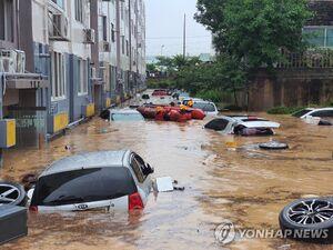 کره جنوبی غرق در آب