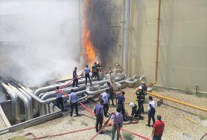فیلم/ توضیحاتی درباره حریق در نیروگاه شهید باکری سمنان