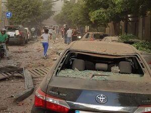 عکس/ خسارات مادی بر اثر موج انفجار در بیروت لبنان