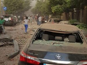 عکس/ خسارات مادی بر اثر موج انفجار در بیروت لبنان - کراپشده