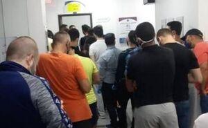 صف اهدای خون در بیروت