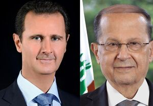 پیام تسلیت بشار اسد به رئیسجمهور لبنان