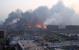 عکس/ انفجار مهیب کارخانه مواد شیمیایی در چین