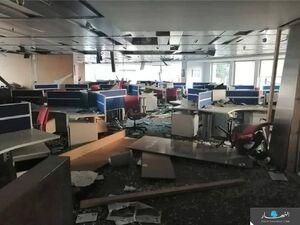 تخریب دفتر روزنامه لبنانی النهار در انفجار بیروت