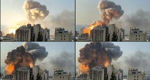 عکس/ اوج انفجار بیروت در یک قاب