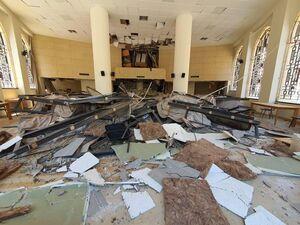 عکس/ آثار انفجار بندر بیروت بر پارلمان لبنان