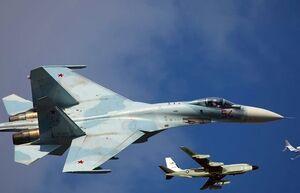 تقابل «سوخو-۲۷» روسیه با ۲ فروند هواپیمای جاسوسی آمریکا