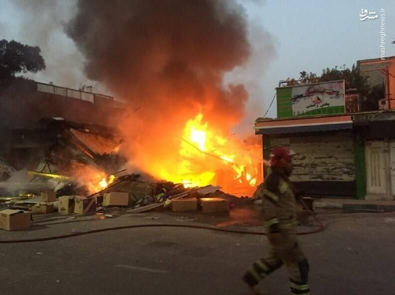 آوار شدن یک ساختمان ۲ طبقه در جنوب تهران +عکس