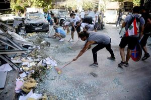 عکس/ اقدام زیبای مردم لبنان