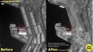 بخشی از ساحل بیروت محو شد