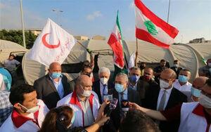 بازدید وزیر بهداشت لبنان از بیمارستان صحرایی هلال احمر ایران در بیروت
