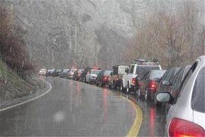 ترافیک سنگین و مه گرفتگی در جاده چالوس/ افزایش ۹.۸ درصدی ترددها