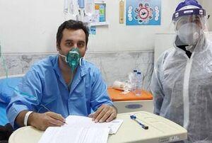 برگزاری آزمون ارشد بیمار کرونایی در مسیح دانشوری +عکس