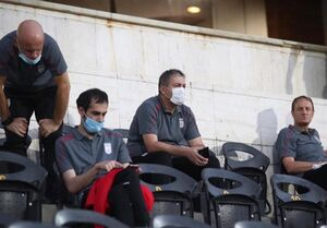 اسکوچیچ و دستیارانش در ورزشگاه آزادی
